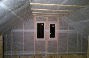 Фото утепления чердака каркасного дома, karkasdom.info