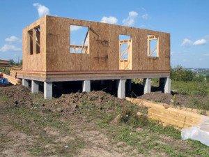 Фото строительства одноэтажного каркасного дома, dom-zd.ru
