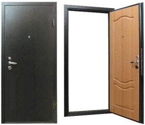 Фото входной двери из стали, dizainremont.com