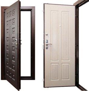 Фото дверной рамы и полотна из стали, remstroiblog.ru