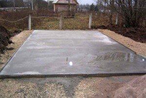 На фото - монолитная бетонная плита основания, acottagebuilder.ru