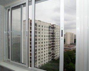 Фото алюминиевой конструкции для холодного типа остекления лоджии, kbe-master.ru