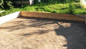 На фото - подушка из гравия и песка для фундамента каркасного дома, belostroydom.ru