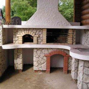 Барбекю в беседке – садовый камин! фото