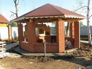 Особенности строительства камина для дачи в беседке фото