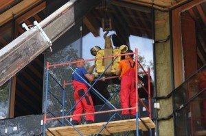 Фото установки фасадного остекления, salonokon.com