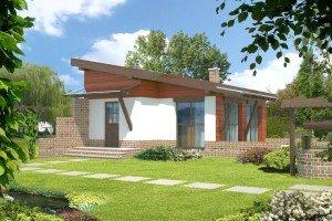 Фото каркасного дома с односкатной крышей, novakrovlya.ru
