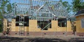 Каркасные дома из металлопрофиля – быстрая сборка, легкий вес
