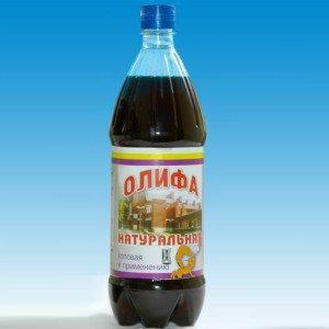 На фото - олифа из натурального масла, brestmestprom.by