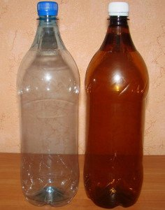 На фото - бутылки ПЭТ с цилиндрической средней частью, avegaplast.com.ua