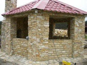 Фото беседки для дачи из камня, mir-domov.com.ua