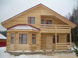 Фото дома из бруса, 1poderevu.ru