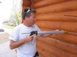 Фото неводостойкого акрилового герметика для древесины, elektroas.ru