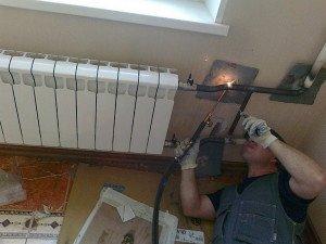Замена отопительных радиаторов фото