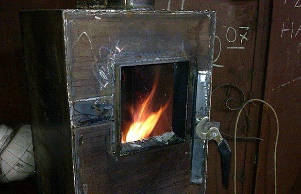Фото самодельного отопительного котла с верхним горением