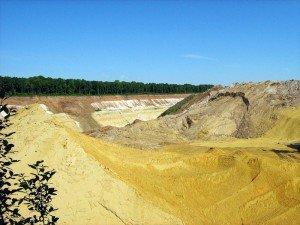 Фото желтого карьерного песка, litebeton.ru