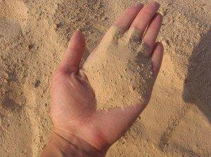 На фото - мелкозернистый карьерный песок, zhytomyr.all.biz
