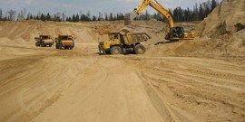 Карьерный строительный песок