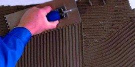 Расход плиточного клея – составляем бюджет ремонта