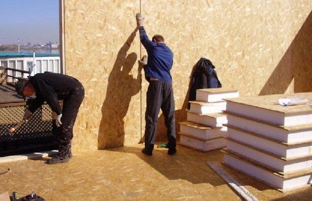 Фото возведения каркасно-панельного дома своими руками