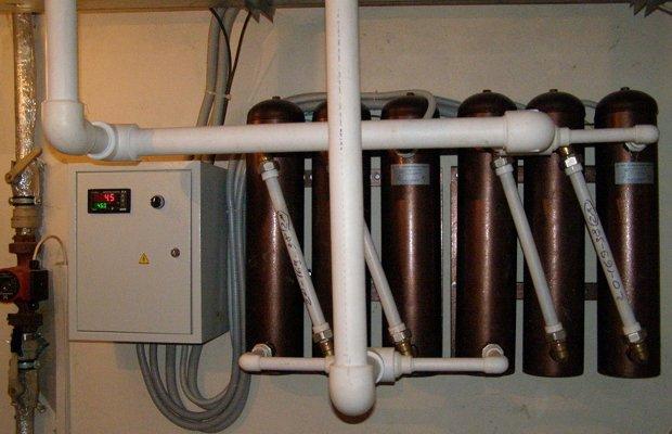 Подключение индукционного котла к жесткой конструкции трубопровода