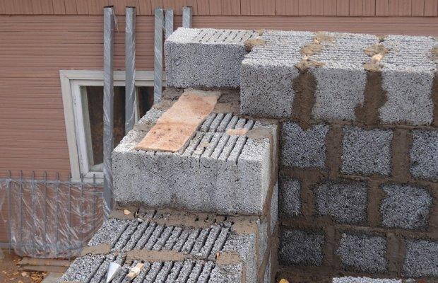 Блоки для строительства из мелкого керамзита