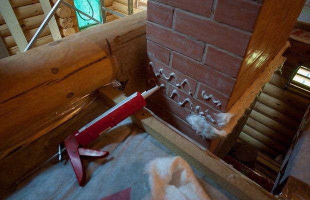Использование герметика для камина