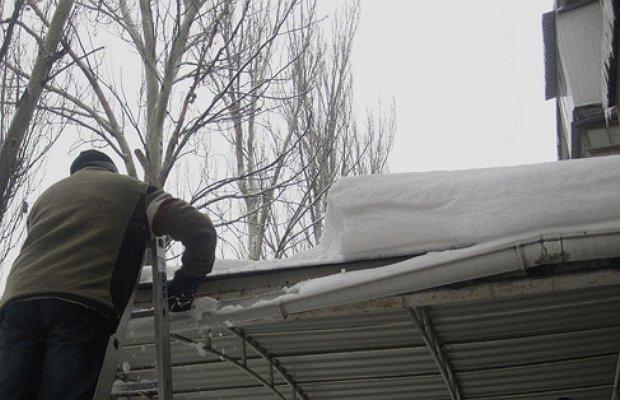 Ремонт водостока крыши