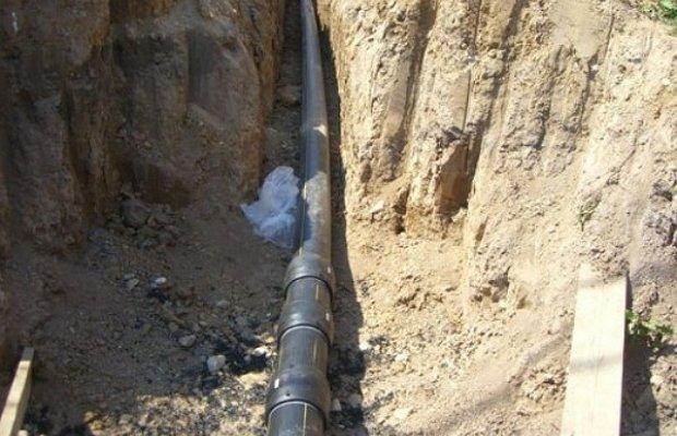 На фото - подземный газопровод частного дома