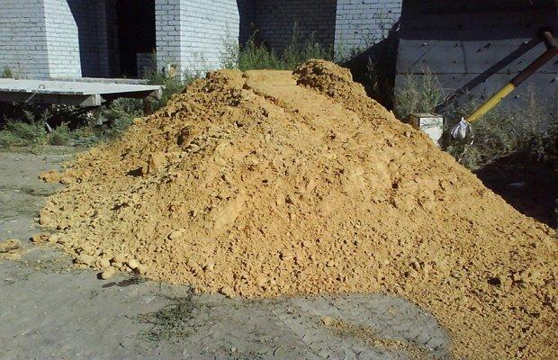 Строительный песок с примесями