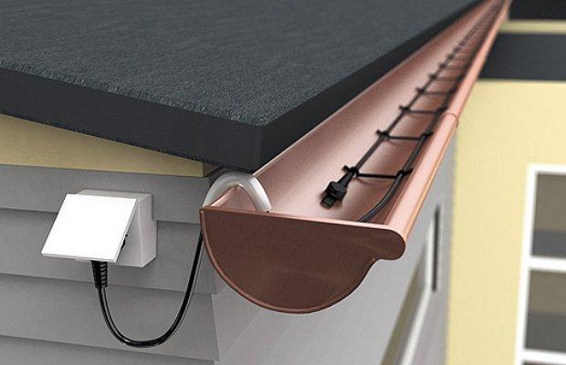 Фото кабеля для обогрева металлических водостоков