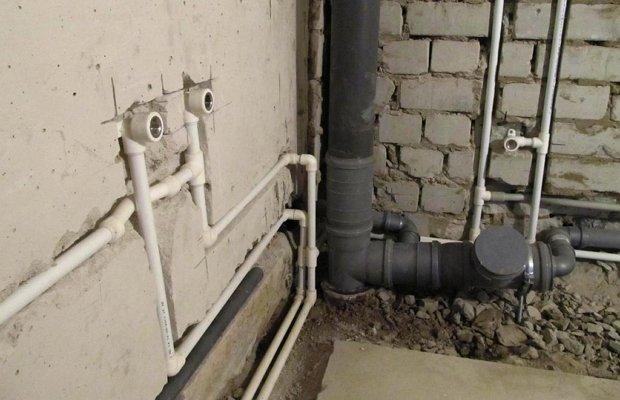 Скрытая разводка трубопровода фото