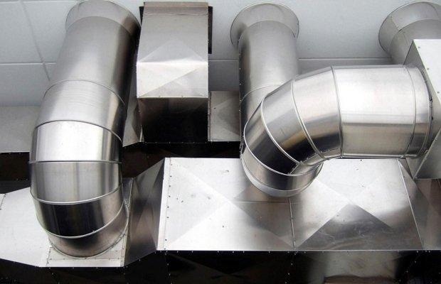 Металлические короба для вентиляции помещений