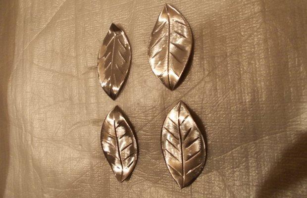 Листья из металла – оформляем холодную ковку