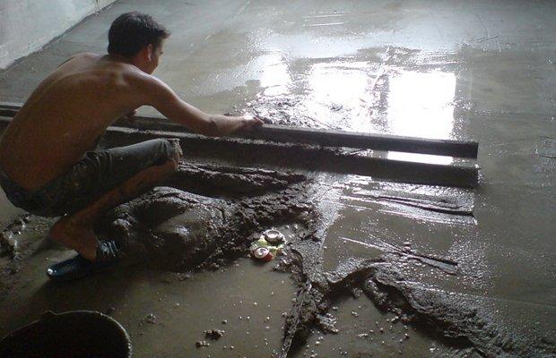 Смесь бетона с керамзитом