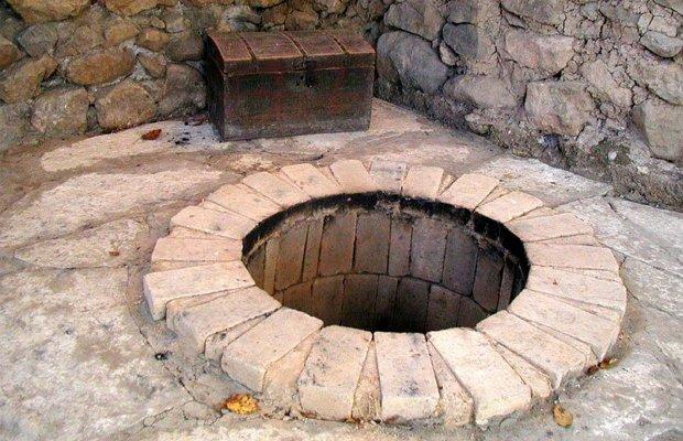 Строительство тандыра из каменных блоков