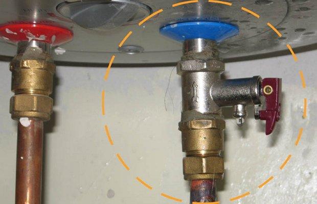 Предохранительный клапан нагревателя