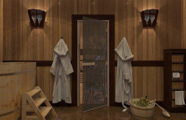 Дверь из термостойкого специального стекла