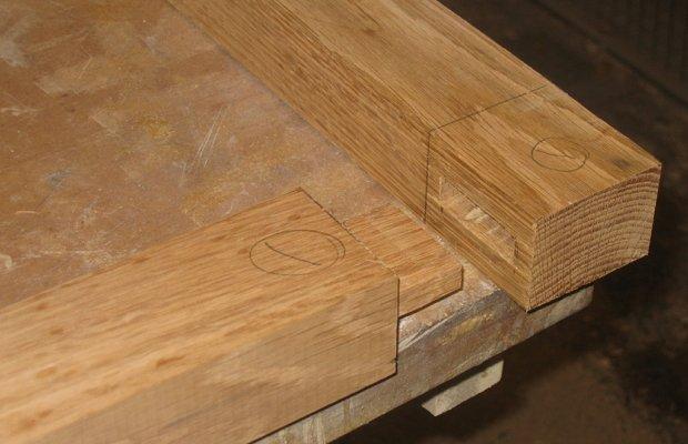 Соединение готовых деревянных элементов