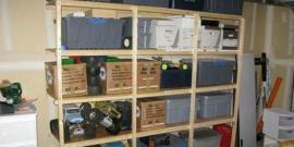 Стеллаж в гараже своими руками – надежная и прочная конструкция без лишних затрат!