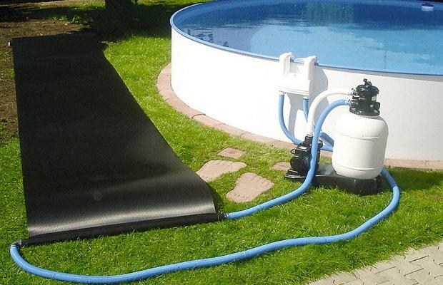 Временное  устройство для периодического нагрева бассейна