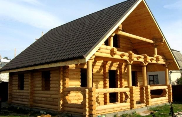 Дом из цельного бруса