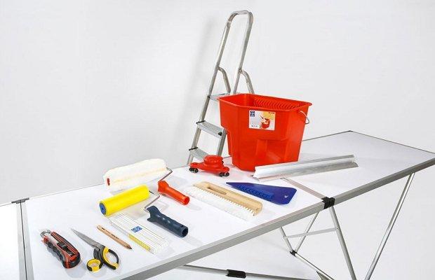 Набор инструментов для поклейки обоев