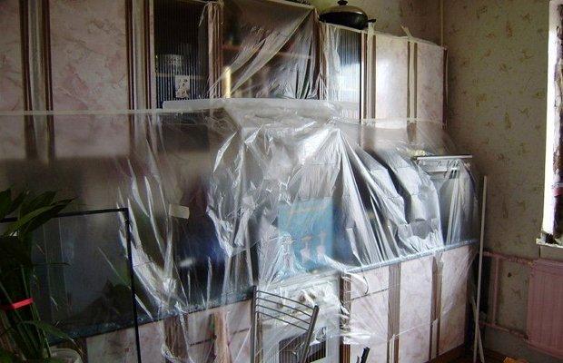 Укрытие мебели пленкой