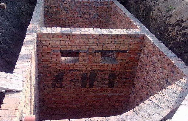 Септик на даче из кирпича