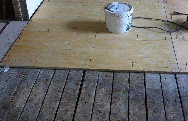 Фиксирование фанерных листов метизами