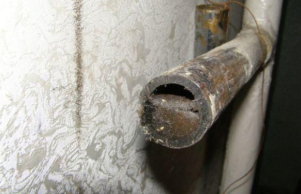Засорение труб из стали