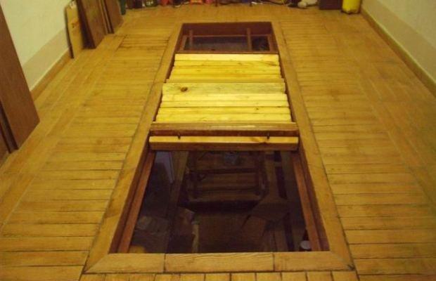 Перекрытие из деревянных досок