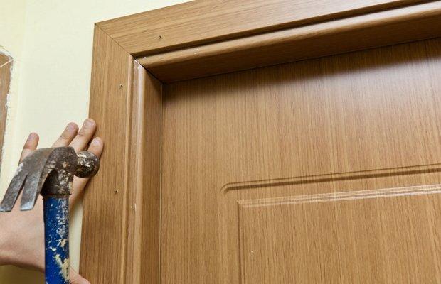 Состыковка дверных наличников