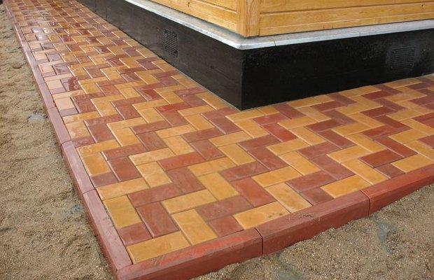 Как сделать конструкцию из тротуарной плитки?